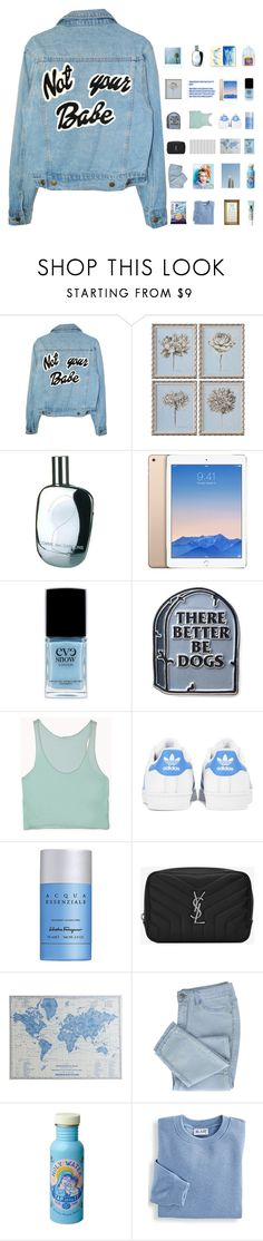 """""""6422"""" by tiffanyelinor ❤ liked on Polyvore featuring Uttermost, Comme des Garçons, Eve Snow, Forever 21, adidas Originals, Salvatore Ferragamo, Yves Saint Laurent, Pier 1 Imports, Blair and Clinique"""