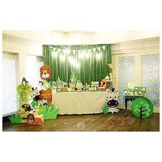 #birthdayparty #decoration #jungletheme #madagascar #zebra #animals #GEEKsg #green #saigon #HCMC #partydecor #kids #trees #cartoon #cute #babyshower #boys #2015