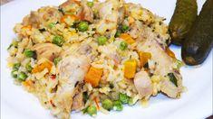 Rizses csirke zöldségesen