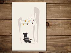 Es wird Hochzeit gefeiert! Diese liebevoll gestaltete Klappkarte eignet sich sowohl als Grußkarte, lässt sich aber auch hervorragend als Einladung verwenden. Das niedliche Eulen-Brautpaar sorgt...