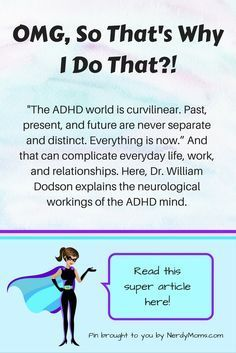 Great slideshow by ADDitude Magazine that explains why individuals with ADHD procrastinate, get easily overwhelmed, struggle to be organized, and more!