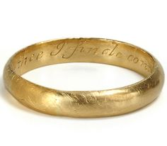 """Gold poesy ring........inscribed...""""IN THEE I FINDE CONTENT OF MIND"""".....hand engraved"""