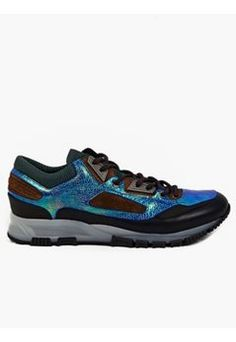 sports shoes dd89c 750e5 Mens Iridescent Leather Running Sneakers