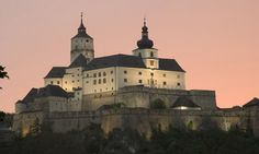 Burg Forchtenstein (Forchtenstein Castle) is a castle built in the late Middle Ages near the municipality of Forchtenstein in northern Burgenland, Austria. Visit Austria, Late Middle Ages, European Tour, Medieval Castle, Central Europe, Kirchen, Merida, Alps, Places To See