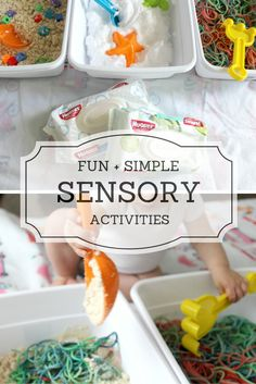 3 super easy, fun, and inexpensive sensory activities for your little ones! #hugthemess ad #cbias