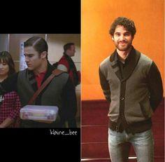 Darren is wearing Blaine's wardrobe