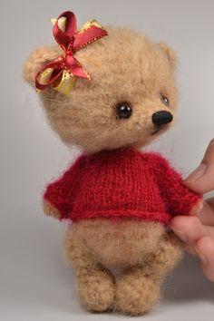 Crochet Teddy in Red Sweater
