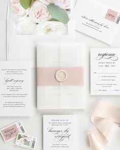 Wedding Invitations with Wax Seals