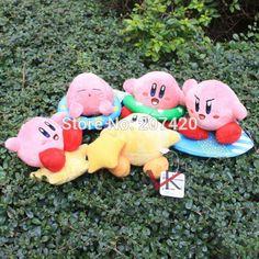 Cute Lovely 12cm Cartoon Kirby Plush Toys Doll,5 Colors Available #Affiliate