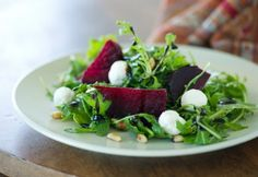 #meatlessmonday Roasted Beet Salad summer supper . Healthy light and fit food!