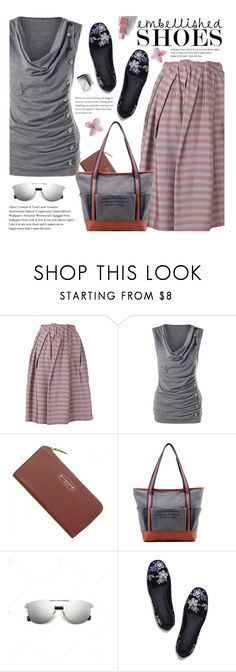 """""""Spring Style: Embellished Shoes"""" by beebeely-look ❤ liked on Polyvore featuring Jil Sander Navy, Tory Burch, Burberry, casual, stripes, embellishedshoes and twinkledeals"""