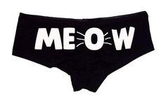 9e605305b2 Meow Booty Shorts Women s Cute Underwear Panties