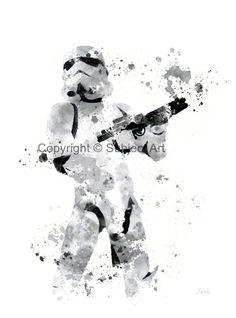 Stormtrooper Star wars ART PRINT illustration Home by SubjectArt