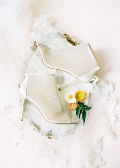 Sparkly wedding booties for bridal style ideas