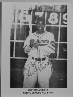 Autographed Photo Baseball Negro League Baseball All Star Lester Lockett | eBay
