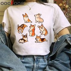 New Dogs Funny Cartoon T Shirt Women - H4144 / S