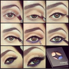 Tutorials on how to do casual makeup using Motives Eyes shadow kit palette