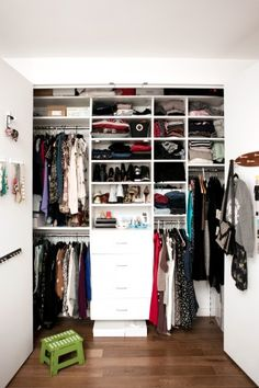 Get It Together: 15 Tips for a Closet Overhaul #R29 #organize #closet // I cannot describe how much I like the organizational ideas in this article!