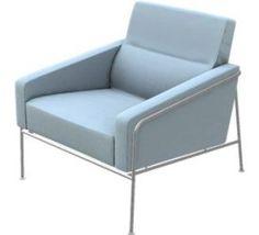 Denmark | Arne Jacobsen, 3300 series chair for Fritz Hansen, 1956.