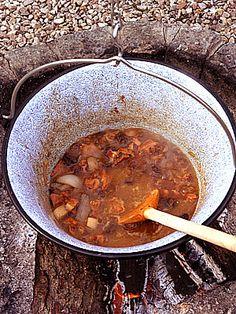 Potrawka z wieprzowiny i suszonych śliwek z kociołka