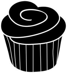 Cupcake Outline Clip Art | Cupcake Clip Art Images Cupcake Stock ...