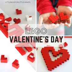 Try a LEGO Valentines Day building challenge! Get creative and build all sorts of hearts or words out of basic LEGO bricks for fun Valentine& Day activity. Valentines Day Love Letters, Lego Valentines, Valentines Day Memes, Valentines Day Party, Valentines For Kids, Valentine Day Crafts, Lego Activities, Valentines Day Activities, Valentine's Day Quotes