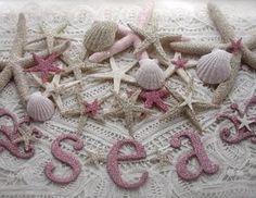 glitter sea shells, OMG could be gorgeous.