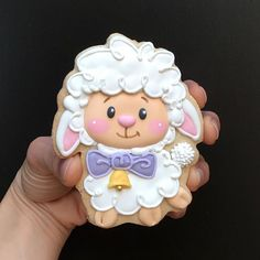 Behold the lamb of God, that takes away the sin of the world. Farm Cookies, Easter Cookies, Holiday Cookies, Cupcake Cookies, Elegant Cookies, Easter Biscuits, Iced Sugar Cookies, Baby Shower Cookies, Custom Cookies