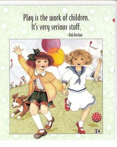 Play Is Work of Children It's Very Serious Fridge Magnet Mary Engelbreit Artwork   eBay