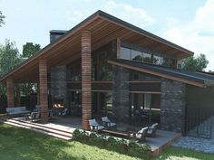 Exterior - stunning ideas for beautiful house 2019 31 > Fieltro.Net Exterior - Home pictures - stunning ideas for beautiful house 2019 -- Modern House Plans, Modern House Design, Modern House Exteriors, Casas Containers, Dream House Exterior, House Exterior Design, Industrial House, House Roof, Home Fashion
