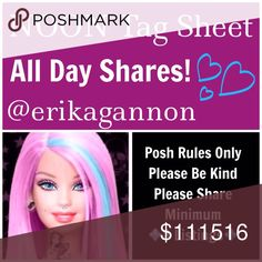 💞TUESDAY SHAREBEAR SIGN UP💞 All Poshmark Compliant Closets are Welcome! 💜Please tag only your closet name below💜Please share at least 8 For Sale Listings from the closets below💜Please take your time sharing these lovely closets! Sign Up closes at Noon EST but you have throughout the day to complete your POSHLOVE and shares. Please spread joy and love and lift up your fellow SHAREBEARS!💜  Please remember to sign out when finished and have FUN!💜 Miss Me Jeans Skinny