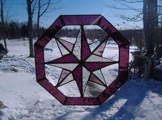 octagon stained glass suncatcher by UpNorthSuncatchers on Etsy