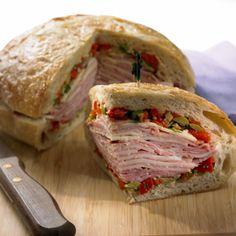 Easy Muffuletta Sandwich #food #recipe