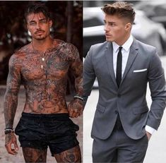 Ideas Fitness Couples Memes People For 2019 Johnny Edlind, Sexy Tattooed Men, Bearded Tattooed Men, Hot Guys Tattoos, Black Men Tattoos, Mode Man, Just Beautiful Men, Fit Couples, Fitness Couples
