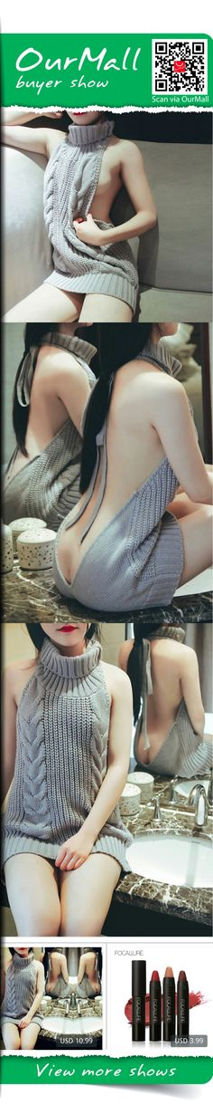 2017 Hot Backless Sexy Sweater Women Tops Female Turtleneck Knitted Sweaters New Spring Autumn Women Knitwear Sweater Pullovers buyer show, ,http://ourmall.com/r/zQ7Nrq  #sweater #sexysweater #sweaterforwomen #sleevenesssweater #springsweater #graysweater #cutesweater #refashionsweater