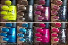 Wet 'n Wild Spoiled nail polishes. Less than 2 bucks and the finishes are amaziiiiing. Click thru for closer swatches.
