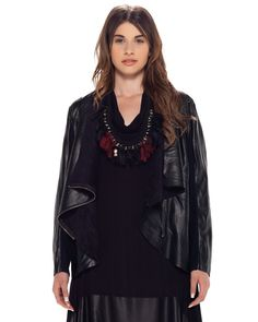 MAT Leather Detail Dress