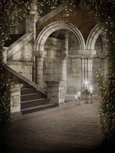 Kate Retro Style Grey Castle Photography Backdrops #gothicarchitecture