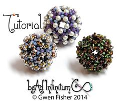 TUTORIAL Conway Bead Beaded with Tetrahedrons and by gwenbeads, $9.00