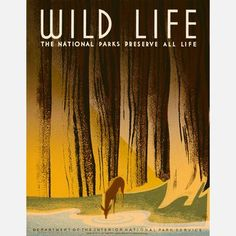 Your Americana-obsessed friends will love this WPA design. This digitally reproduced poster—with an illustration by Frank S. Nicholson originally created in the late 1930s for the National Park Service—depicts a deer drinking from a stream in the forest. This print is also part of the NYC Art Project and the Work Projects Administration Poster Collection.