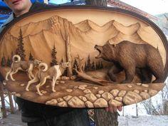Медведь и собаки