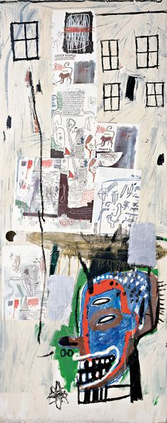 """Why are there almost never works by Basquiat on display in NYC museums? phillipsdepury: """" Jean-Michel Basquiat's Overrun, 1985 sold for at the Contemporary Art Evening Sale, 17 February. Jean Basquiat, Jean Michel Basquiat Art, Keith Haring, Henri Matisse, Art Andy Warhol, Basquiat Paintings, Basquiat Artist, Creation Image, Radiant Child"""
