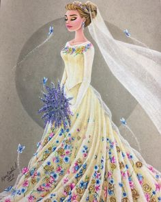 Cinderella's wedding dress!