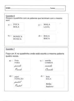 Avaliação Diagnóstica 2º Ano - Português Folha 3