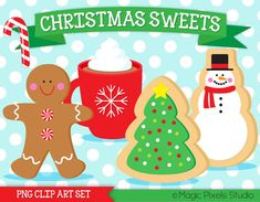 Christmas Clip Art Christmas cookies clipart by MagicPixelsStudio
