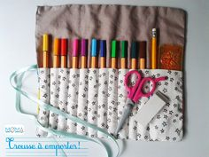 DIY trousse à rouler pour cayons // Tutoriel couture // DIY Sew for kids on moma le blog