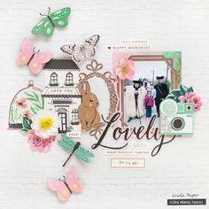 Easter Scrapbook Layout made with Crate Paper Maggie Holmes Flourish Crate Paper, Paper Backdrop, Paper Streamers, How To Make Paper Flowers, Paper Flowers Diy, Studio Calico, Scrapbooking Layouts, Scrapbook Paper, Digital Scrapbooking