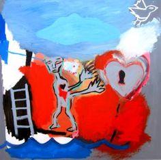 "Saatchi Art Artist Cameron Holmes; Painting, ""Love (Free)"" #art"