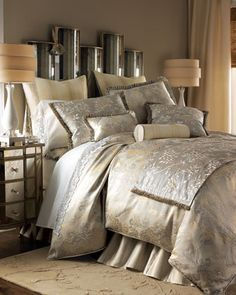 """Duchess"" Bed Linens by Jane Wilner Designs at Horchow."