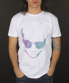 """T-shirt White """"Big grey glitch"""" MATclothing (Made in Italy)  BUY IT HERE: www.matclothing.com"""